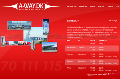 A-way.dk Flash-site